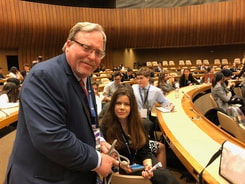 Dr. Steve as Faculty Advisor for DIGIVATIONS XGENS Delegation to the Model UN, Geneva